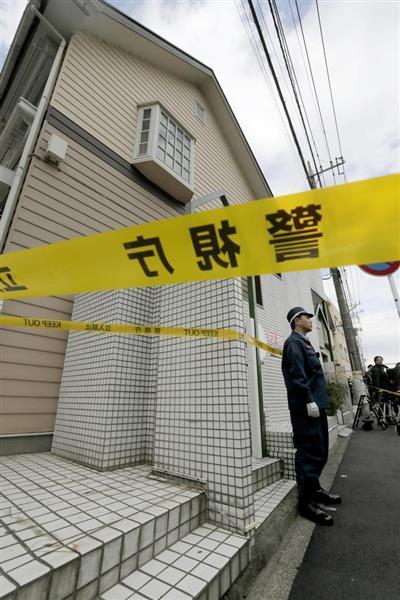 複数の切断遺体が見つかったアパート=10月31日午前、神奈川県座間市