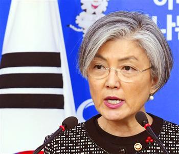 菅官房長官に一刀両断された形の韓国の康外相(共同)