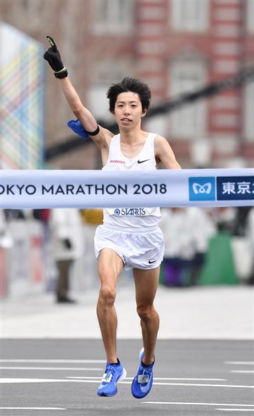 """1億取ったど~!」設楽悠太、東京マラソン2位日本記録更新で""""お家芸 ..."""