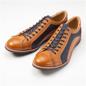 岡山デニムに姫路レザーを使用した靴