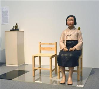 「平和の少女像」と称している慰安婦像
