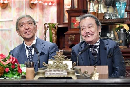 新局長就任が発表された松本人志(左)と西田敏行