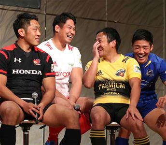 トップリーグでの姫野(左から2人目)、流(3人目)の姿を、にわかファンも見ることができる