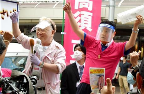 大村知事のリコールを呼びかける高須院長(左)と名古屋市の河村市長(右)