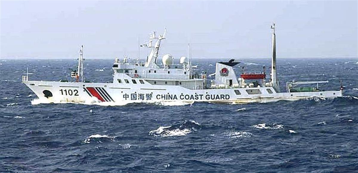 尖閣諸島周辺で確認されたことがある中国海警の船(第11管区海上保安本部提供)