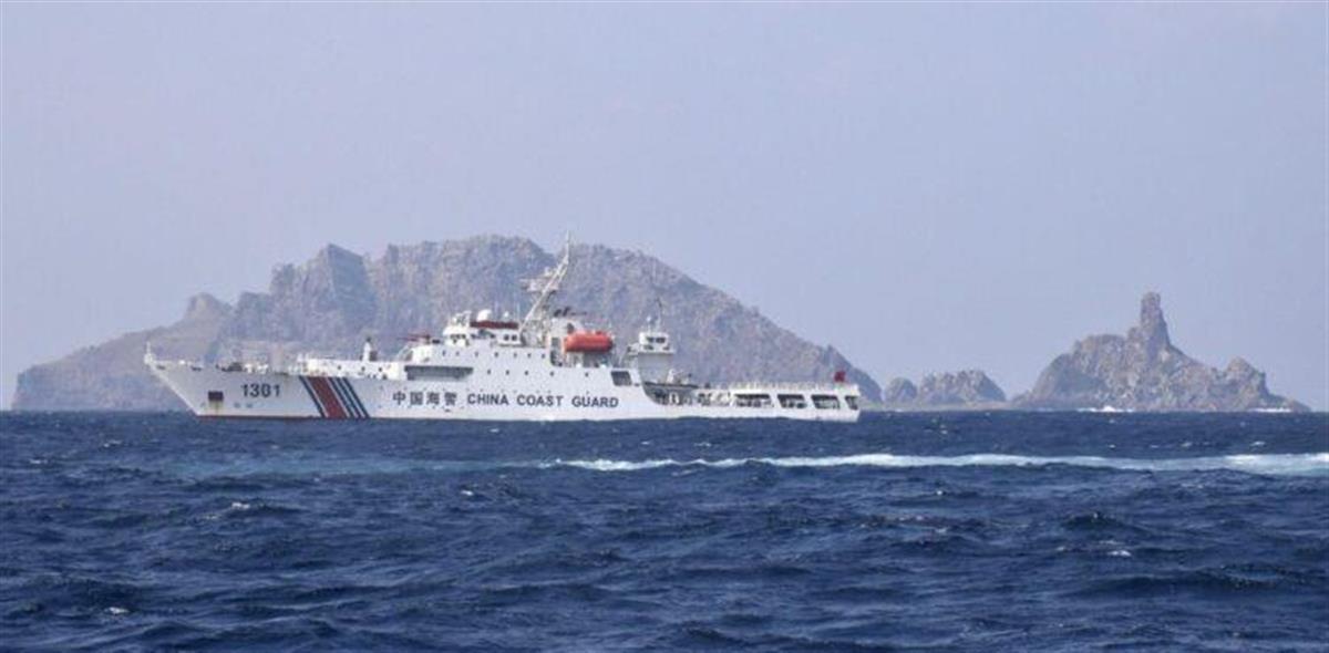 尖閣諸島周辺には連日、国海警局の船が遊弋する(共同)