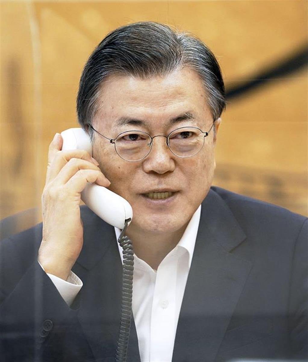 果たして文大統領率いる韓国と正恩氏の北朝鮮が共同開催することはあり得るのか(韓国大統領府提供・共同)