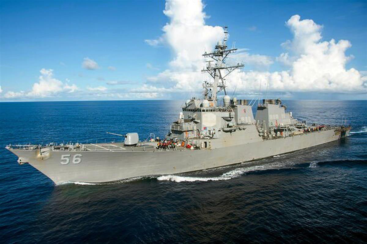 米海軍のミサイル駆逐艦ジョン・S・マケイン