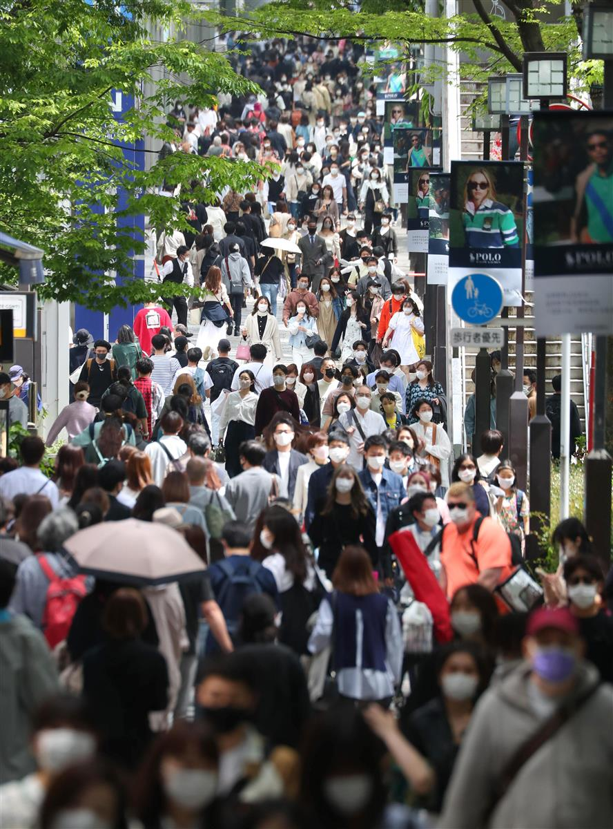 緊急事態宣言の発令前日、4月24日の東京・表参道