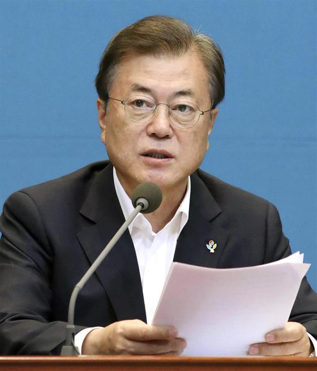 韓国の文在寅(ムン・ジェイン)大統領(聯合=共同)