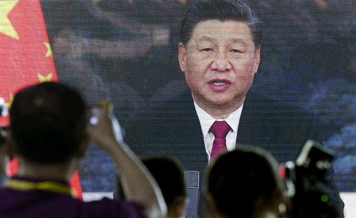 習主席は「博鰲(ボアオ)アジアフォーラム」年次総会でビデオ出演し、「一帯一路」を」アピールしたが=20日、中国海南省(共同)