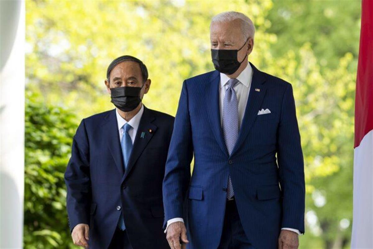 日本は台湾有事でどう動けるか?(写真は日米首脳会談時/EPA=時事)