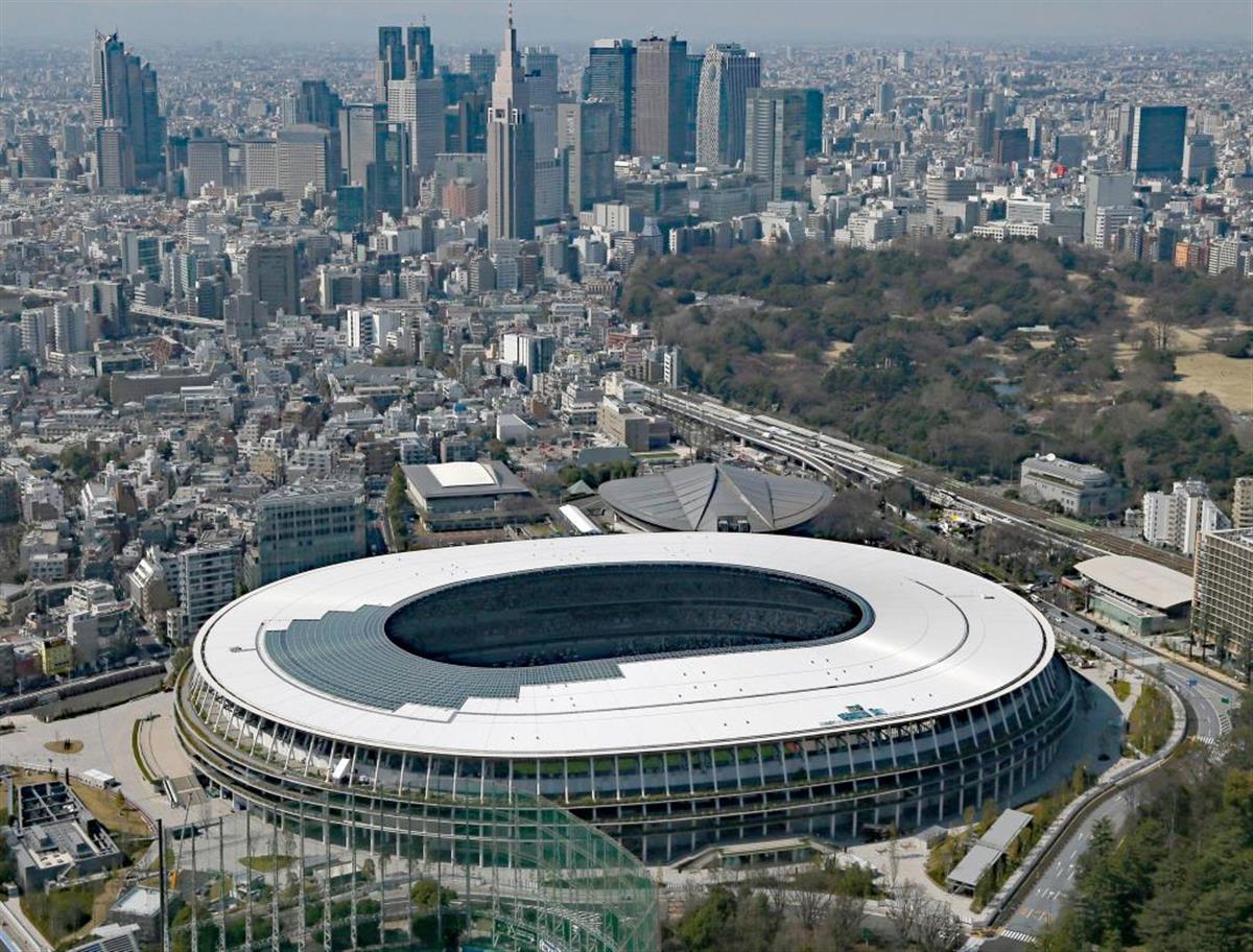 東京五輪のメイン会場の国立競技場