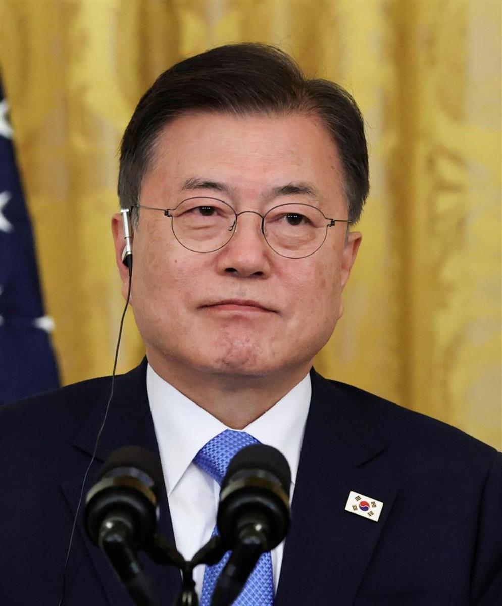 韓国の文在寅大統領=5月、米ワシントン(ロイター)