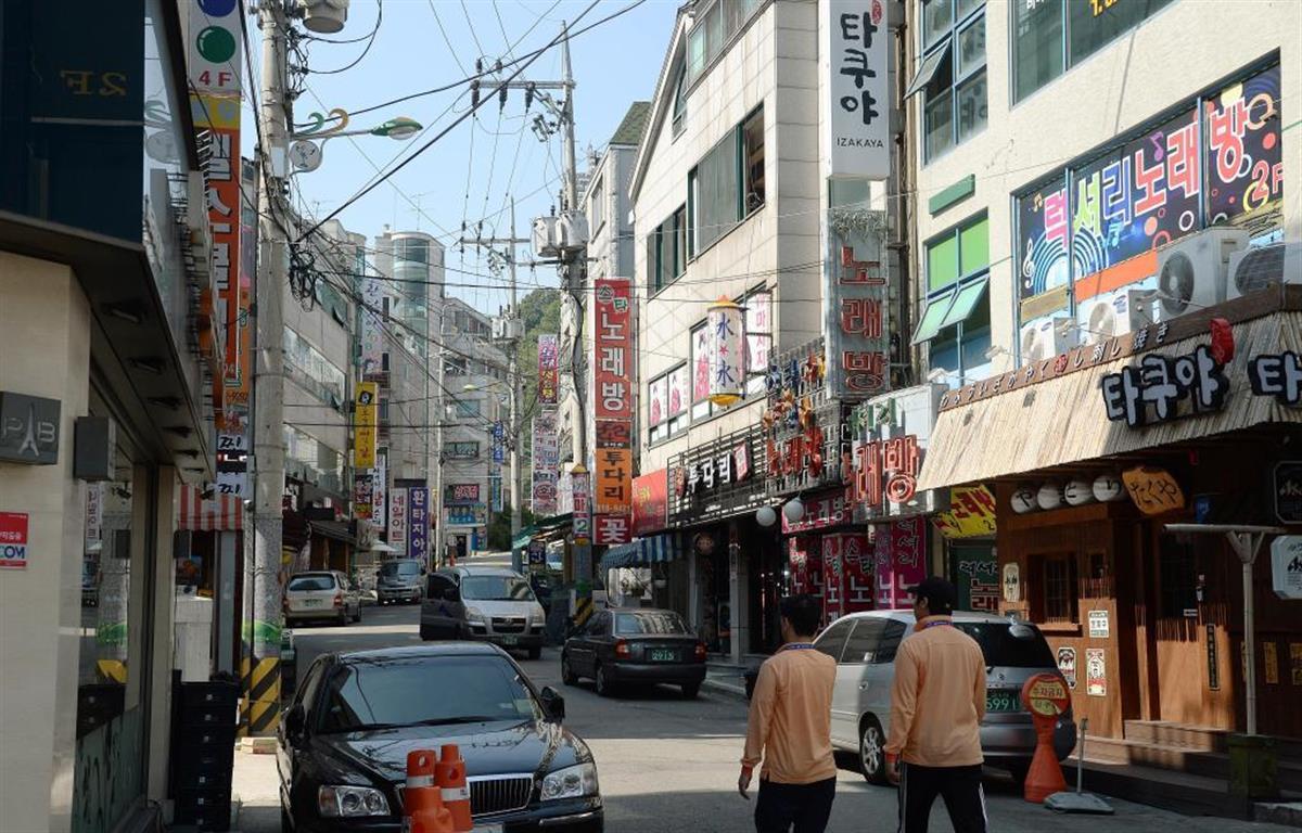 韓国・仁川市の街並み