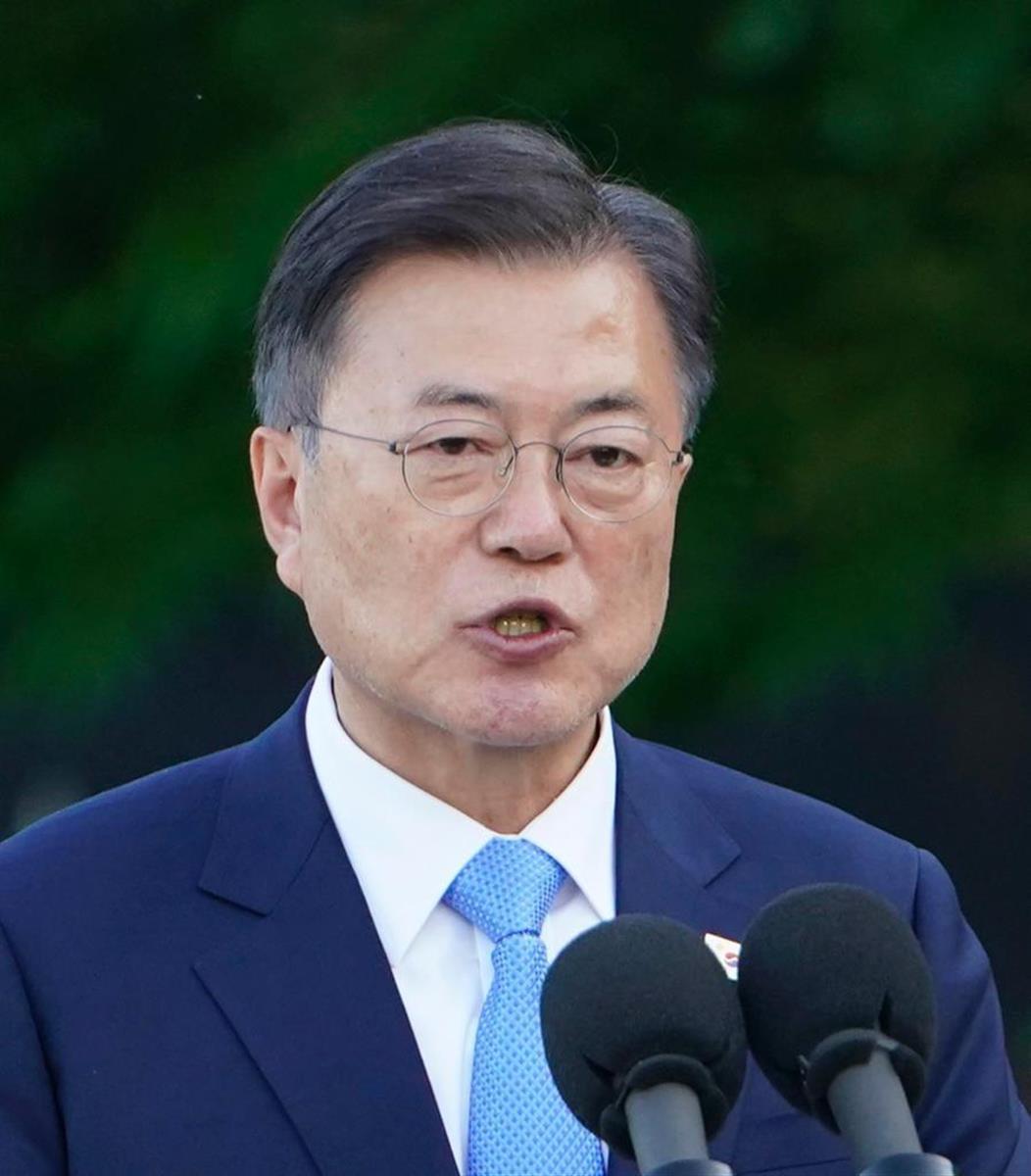 韓国の文在寅大統領=今年5月、米ワシントン(AP)
