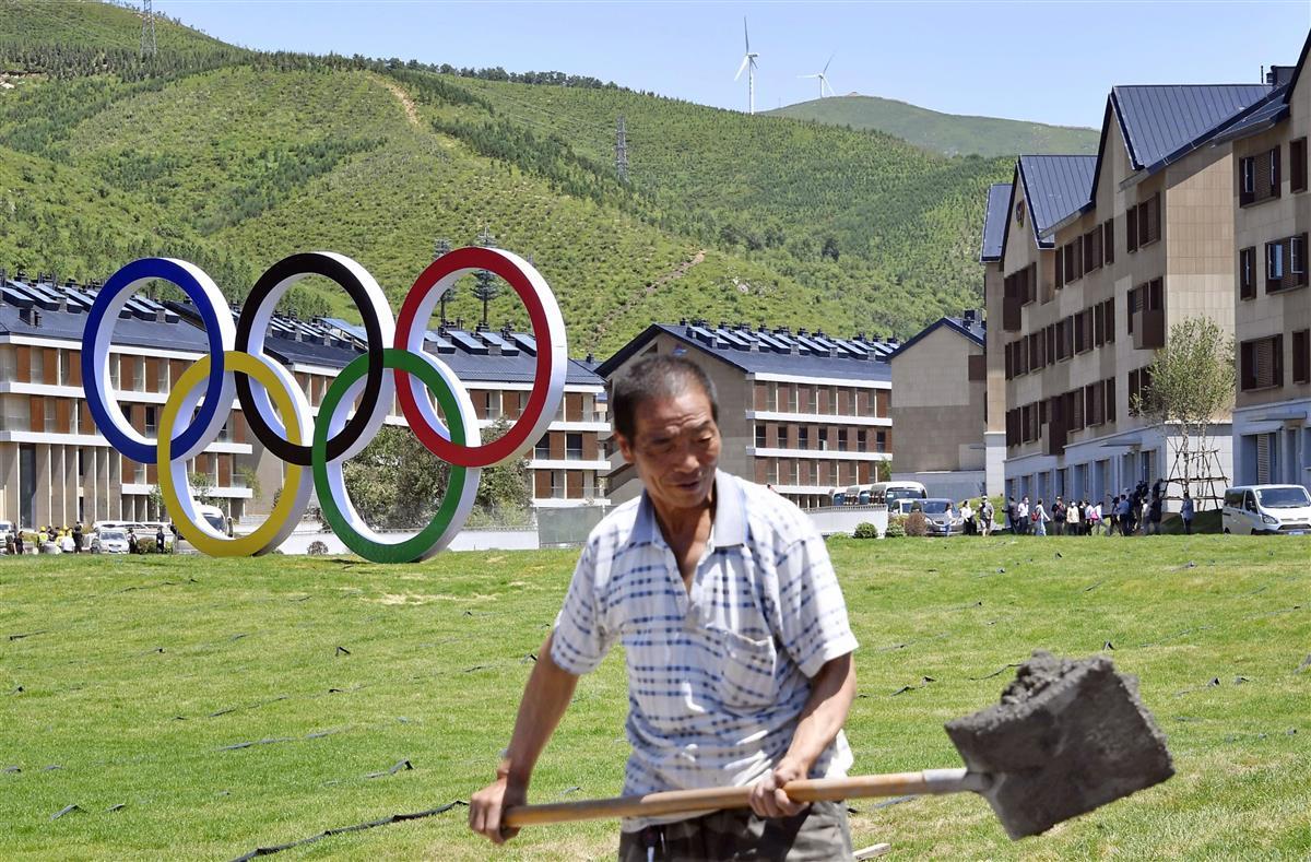 北京冬季五輪の選手村(共同)