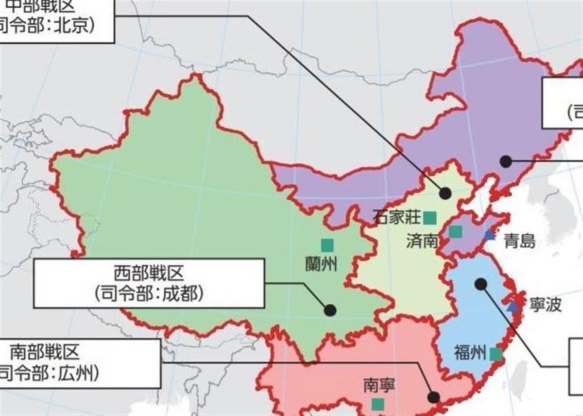 日本の2021年度版防衛白書内の中国の地図にも台湾(右下のグレー部分)は含まれていない