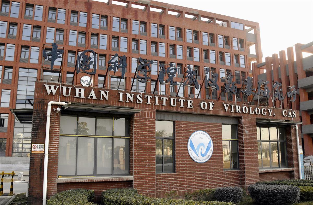 中国科学院武漢ウイルス研究所=1月、中国・武漢(共同)