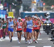 """酷暑の激""""踏"""" 北の大地に感動 男子20キロ競歩「銀」池田向希、「銅」山西利和"""