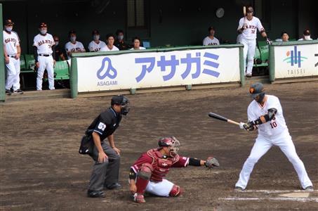 大暴れ中田に阿部監督「1球も振るな」